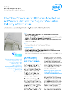 Case Study  Intel® Xeon® Processor 7500 Series  Service Platform Enhanced by 8-way Server