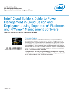 Intel® Cloud Builders Guide  Intel® Xeon® Processor-based Servers  Supermicro* Platform and NMView* Management Software