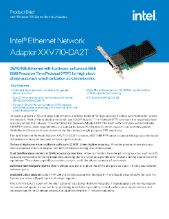 Intel® Ethernet Precision Time Protocol