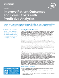 Improve Patient Outcomes and Lower Cost with Predictive Analytics