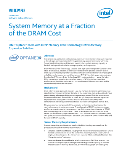 Software-Defined Memory (SDM) with Intel® NVM