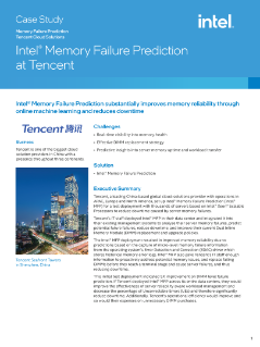 Intel® Memory Failure Prediction at Tencent