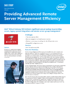 Providing Advanced Remote Server Management Efficiency