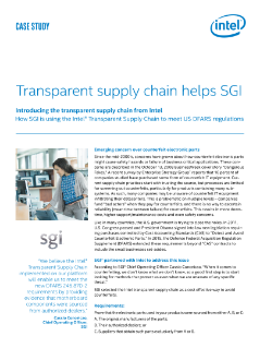 Transparent Supply Chain Helps SGI