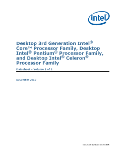 Desktop 3rd Gen Intel® Core™ Processor Family: Datasheet, Vol. 2