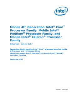 Mobile 4th Gen Intel® Core™ Processor: Datasheet, Vol. 2