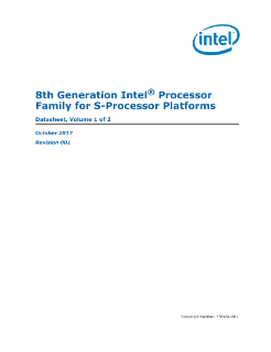 8th Gen (S-platform) Intel® Processor Family Datasheet Vol.1