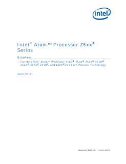 Intel Atom Processor Z5xx Series Datasheet