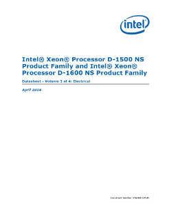 Intel® Xeon® Processor D-1500 NS and D-1600 NS Product Family External Design Specification Addendum Volume 3: Electrical