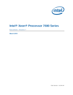 Intel® Xeon® Processor 7500 Series  Datasheet, Volume 1