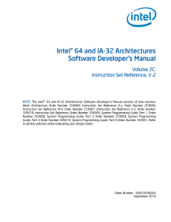 Intel® 64 and IA-32 Architectures Developer's Manual: Vol. 2C