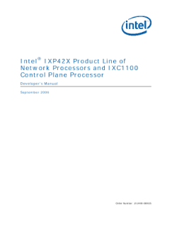 IXP42X Product Line: Developer's Manual