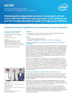 Reducing the Power Consumption of HPC Environments