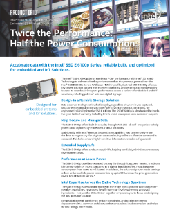 Intel® SSD E 6100p Series Product Brief