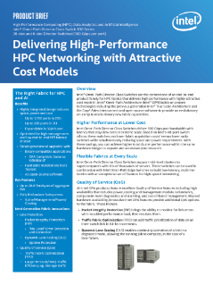 Intel® Omni-Path Director Class Switches 100 Series Product Brief