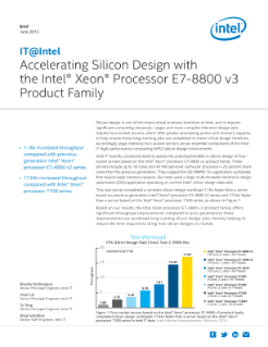 Faster Design with Intel® Xeon® Processor E7-8800 v3 Product Family