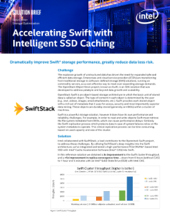 Data Center  Storage Optimization  Accelerating Swift with  Intelligent SSD Caching  Solution brief