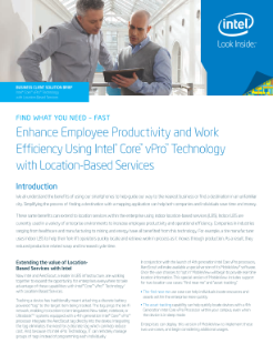 Enhance Productivity, Efficiency with Location-Based Services