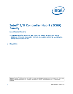 Intel® I/O Controller Hub 9 (ICH9) Family Specification Update