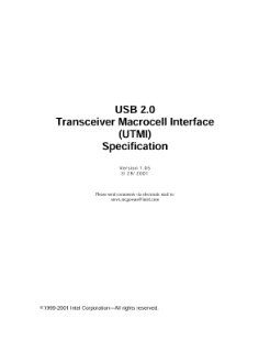 USB 2.0 Transceiver Macrocell Interface (UTMI)