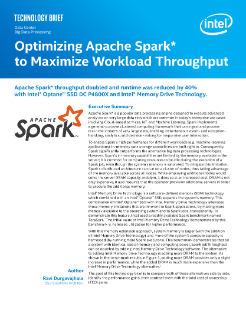 Optimizing Apache Spark* to Maximize Workload Throughput