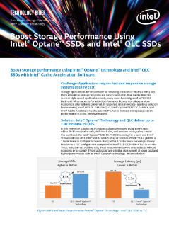 Boost Storage Performance Using Intel® Optane™ SSDs