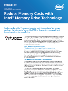 Intel® Memory Drive Technology Can Reduce TCO