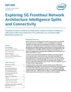 Exploring 5G Fronthaul Network Architectures