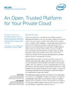 An Open, Trusted Platform for Private Clouds