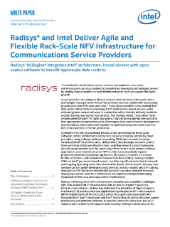 Radisys Delivers Agile and Flexible Rack-Scale NFV Infrastructure