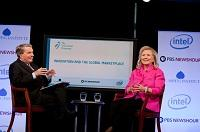 Hillary Clinton and Jim Lehrer